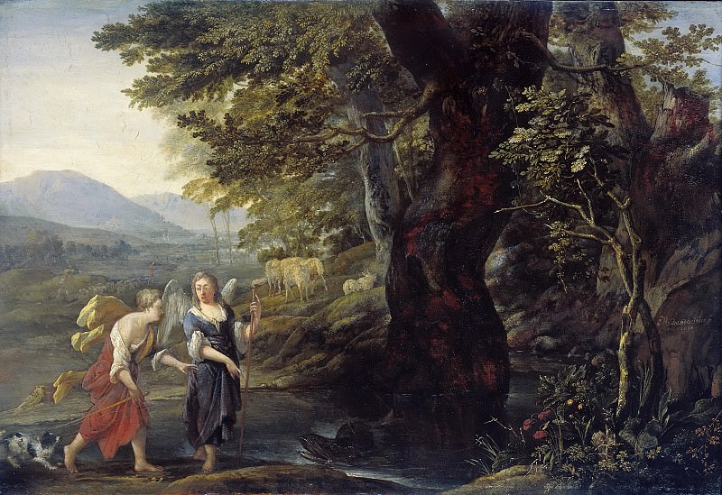 Эглон ван дер Нер -- Товия и ангел, 1690. Рейксмузеум: часть 1