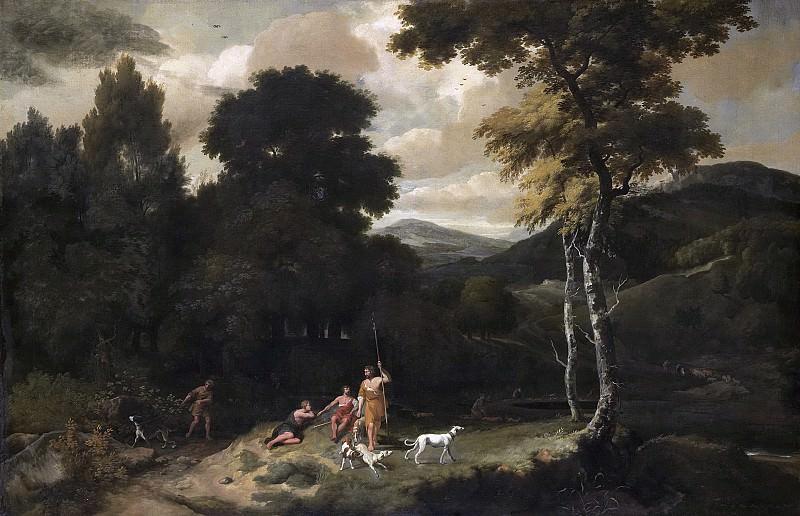Esselens, Jacob -- Landschap met jagers, 1660 - 1687. Rijksmuseum: part 1