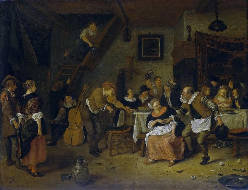 Steen, Jan Havicksz. -- Boerenbruiloft, 1672. Rijksmuseum: part 1