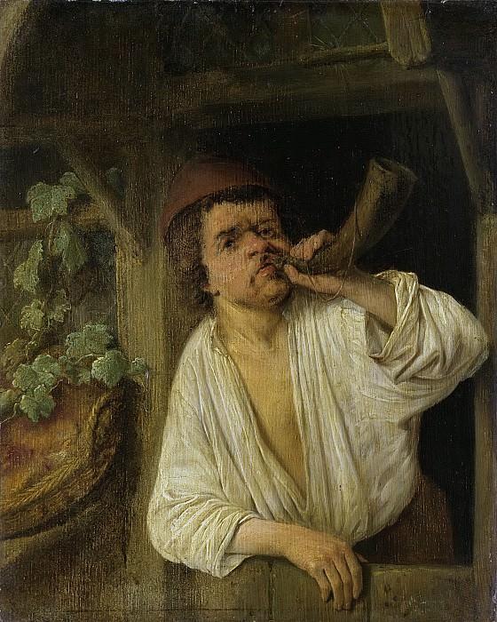 Ostade, Adriaen van -- Een bakker blazend op zijn hoorn, 1630-1685. Rijksmuseum: part 1