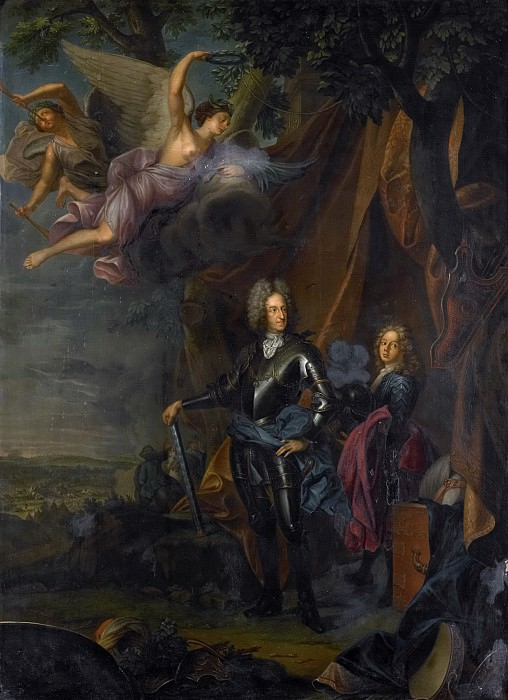 Vivien, Joseph -- Maximilian II Maria Emanuel (1662-1726). Keurvorst van Beieren, in de slag bij Mohacs tegen de Turken, 1710 - 1750. Rijksmuseum: part 1