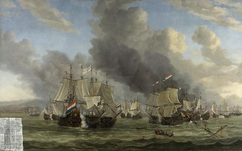 Nooms, Reinier -- De zeeslag bij Livorno, 14 maart 1653, 1653-1668. Rijksmuseum: part 1