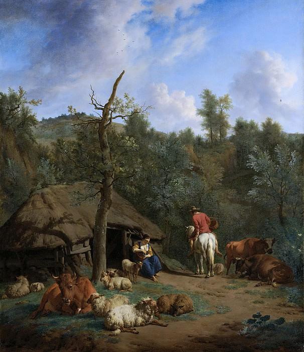Velde, Adriaen van de -- De hut, 1671. Rijksmuseum: part 1