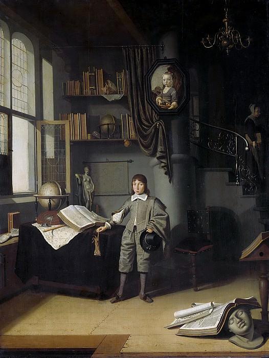 Gaesbeeck, Adriaen van -- Jongeman in een studeerkamer, 1640-1650. Rijksmuseum: part 1