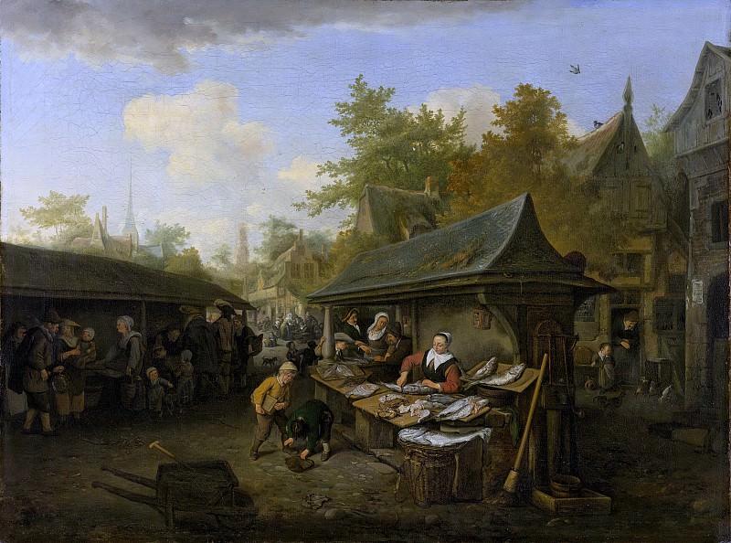 Dusart, Cornelis -- Vismarkt, 1683. Rijksmuseum: part 1