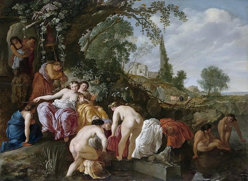 Wtenbrouck, Moyses van -- Farao's dochter vindt Mozes in het biezen mandje, 1625 - 1627. Rijksmuseum: part 1