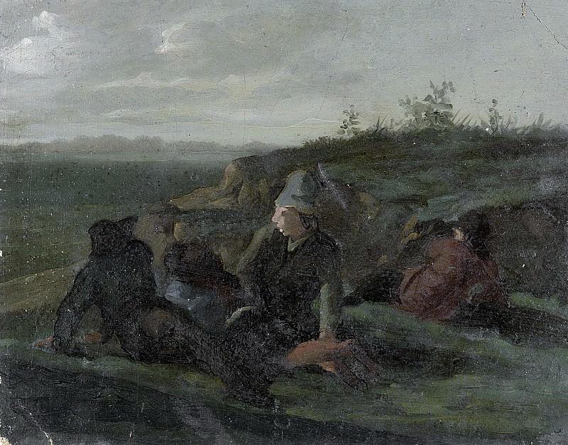 Krausz, Simon Andreas -- Rustende landlieden in een wei, 1770-1825. Rijksmuseum: part 1