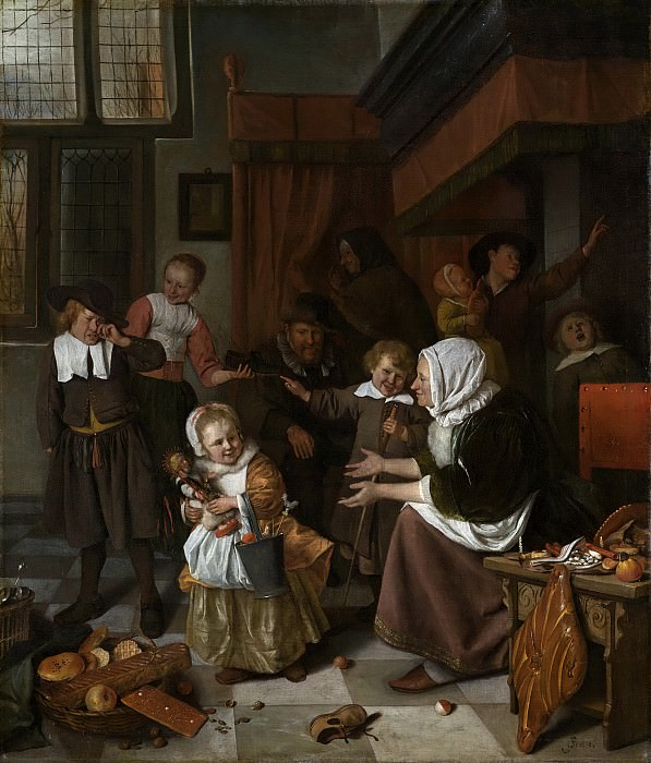 Steen, Jan Havicksz. -- Het Sint Nicolaasfeest, 1665-1668. Rijksmuseum: part 1