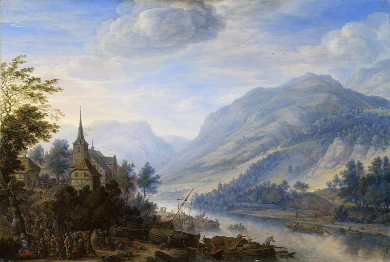 Saftleven, Herman -- Gezicht op de Rijn bij Reineck, 1654. Rijksmuseum: part 1
