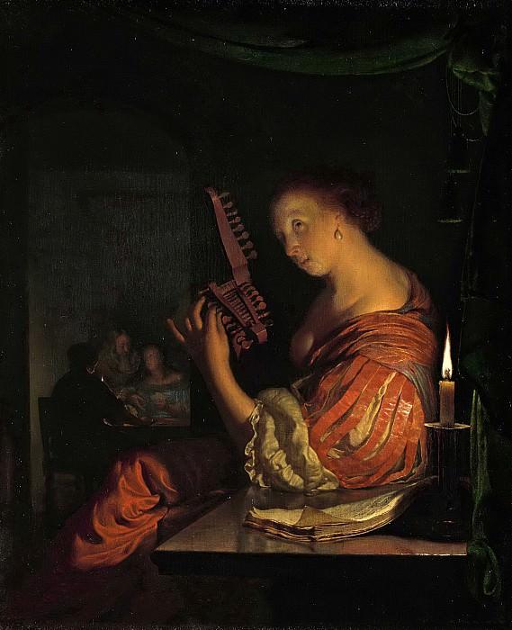 Mieris, Frans van (I) -- Het stemmen van de luit, 1660 - 1681. Rijksmuseum: part 1
