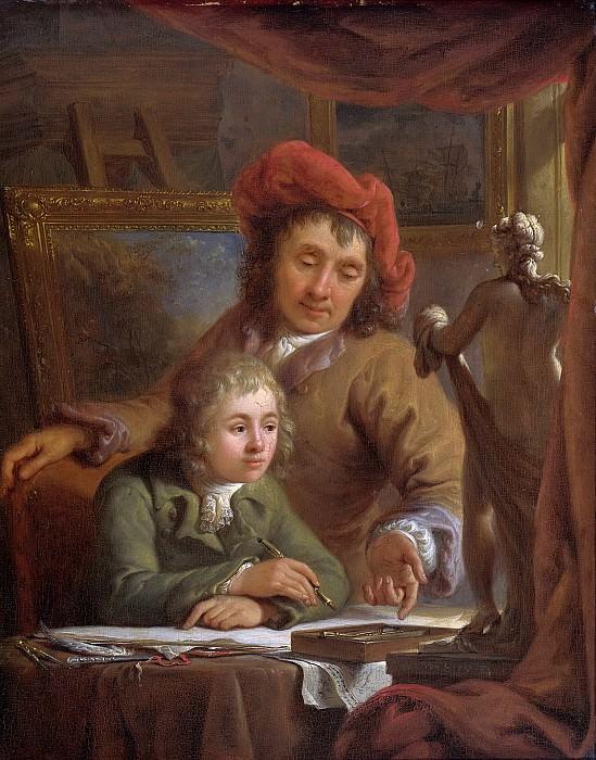 Strij, Abraham van (I) -- De tekenles, 1790-1809. Rijksmuseum: part 1