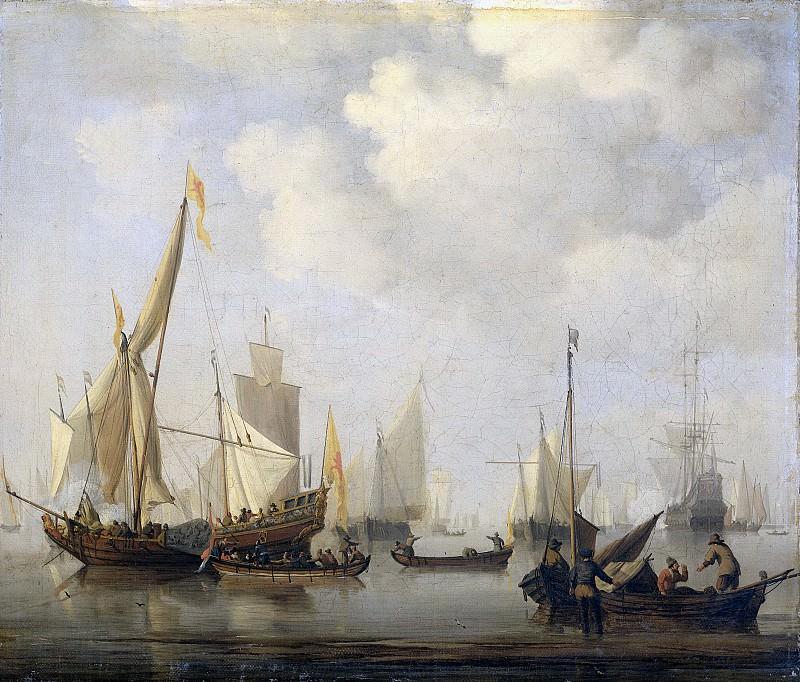 Velde, Willem van de (II) -- Windstilte, 1650-1707. Rijksmuseum: part 1