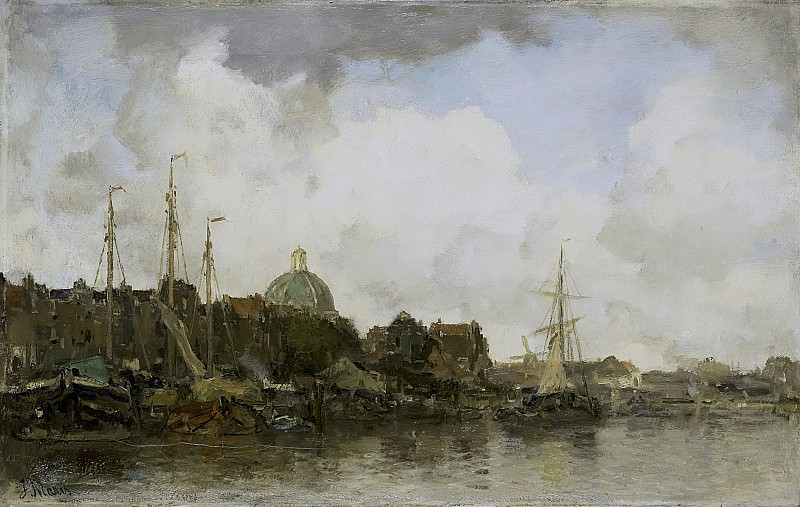 Maris, Jacob -- Stadsgezicht met koepelkerk, 1872 - 1875. Rijksmuseum: part 1