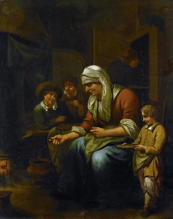Schijndel, Bernardus van -- De pannekoekenbakster, 1670 - 1709. Rijksmuseum: part 1
