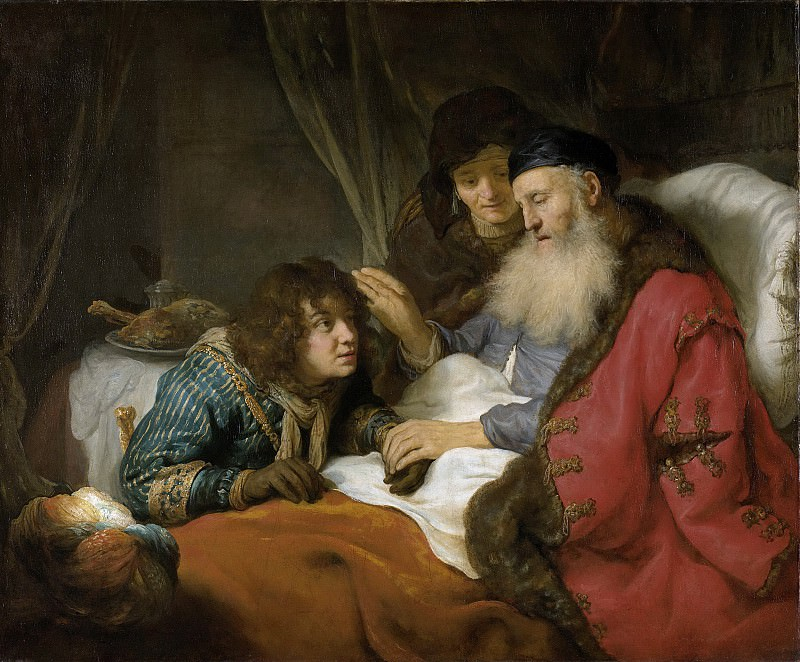 Flinck, Govert -- Isaak zegent Jakob, 1638. Rijksmuseum: part 1