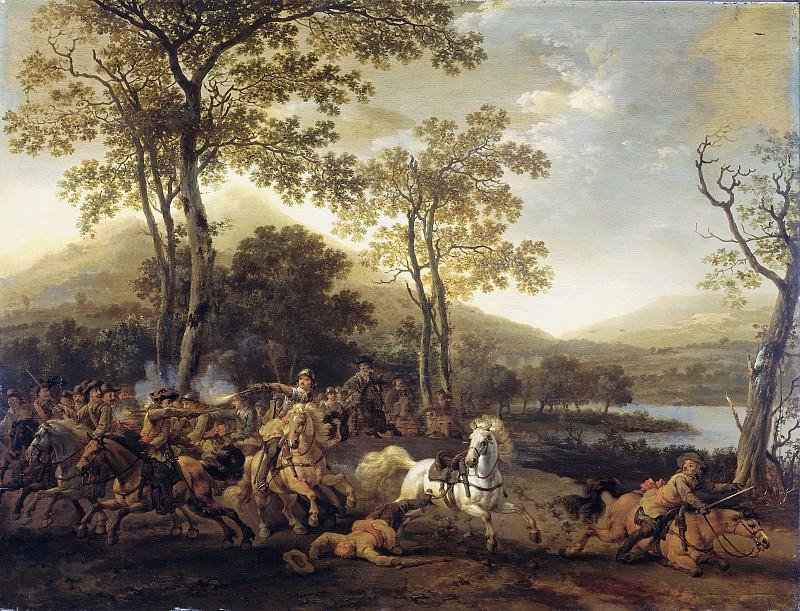 Абрахам ван Кальрат -- Кавалерийская схватка, 1660-1722. Рейксмузеум: часть 1
