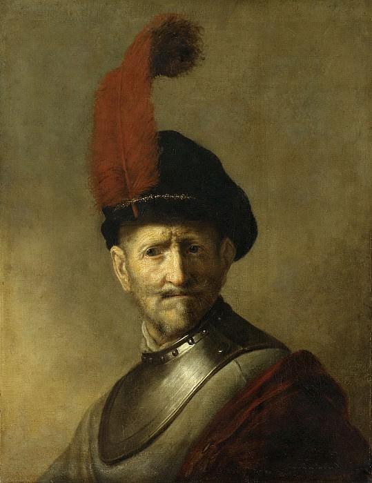 Rembrandt Harmensz. van Rijn -- Portret van een man, misschien Rembrandts vader, Harmen Gerritsz. van Rijn, 1634. Rijksmuseum: part 1