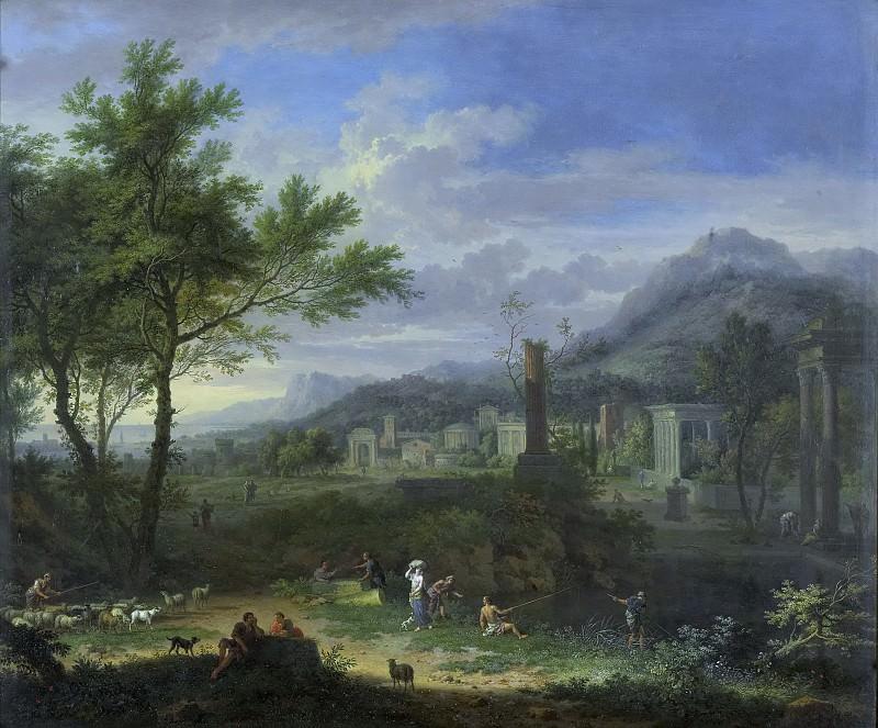 Ян ван Хейсум -- Пасторальный пейзаж и рыбаки, 1700-1749. Рейксмузеум: часть 1