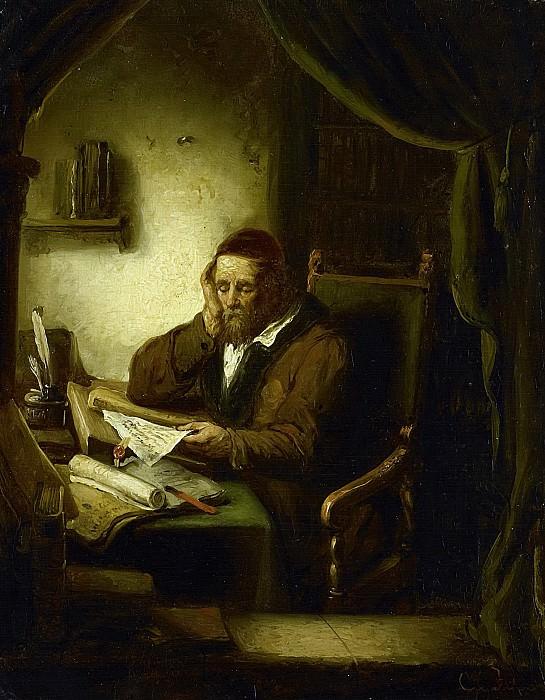 Haanen, George Gillis -- Oude man in zijn studeervertrek, 1833. Rijksmuseum: part 1
