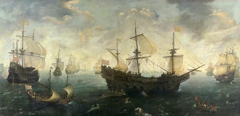 Корнелис Клас ван Виринген - Испанская армада у английского побережья, 1620 - 1625. Рейксмузеум: часть 1