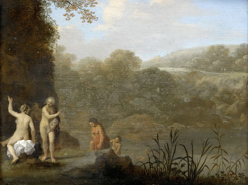 Poelenburch, Cornelis van -- Badende meisjes, 1646. Rijksmuseum: part 1