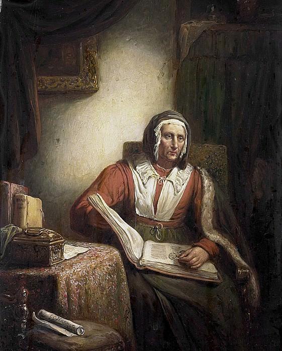 Haanen, George Gillis -- Lezende oude vrouw, 1834. Rijksmuseum: part 1