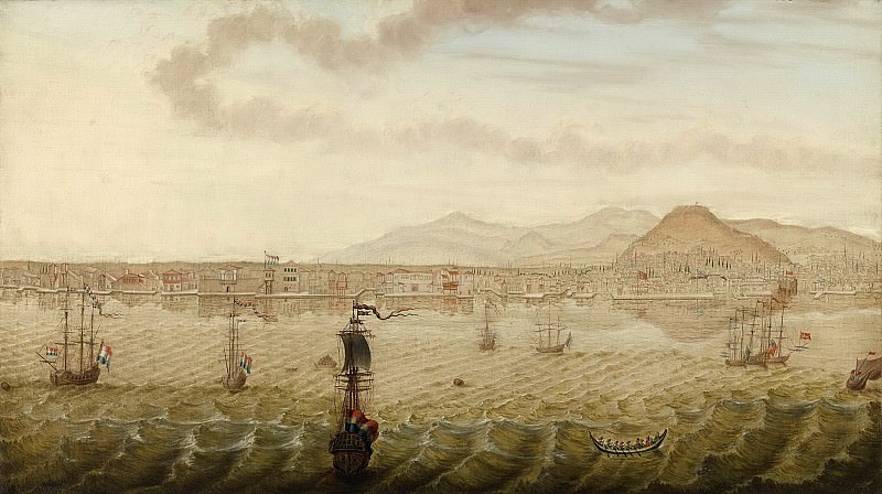 Knop, N. -- Gezicht op Smyrna, 1779. Rijksmuseum: part 1
