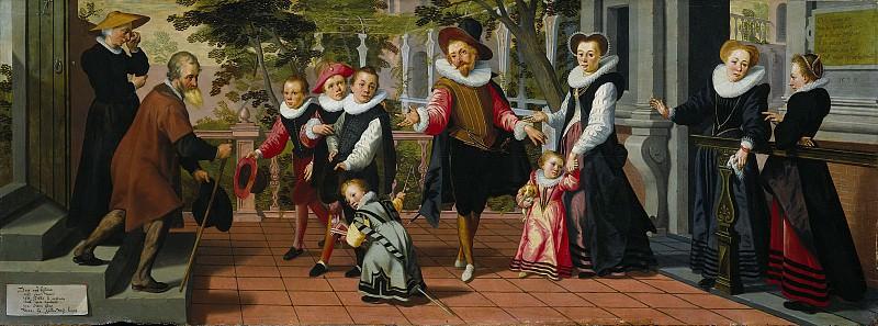 Pietersz., Pieter (I) -- Rijke kinderen, arme ouders, 1599. Rijksmuseum: part 1