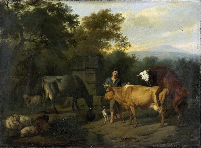 Bergen, Dirck van -- Landschap met herder en vee., 1675-1685. Rijksmuseum: part 1