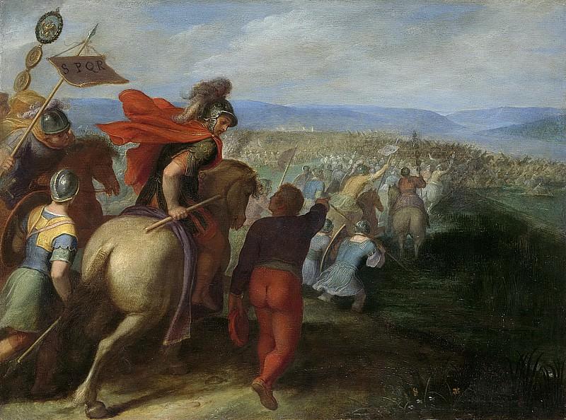 Veen, Otto van -- De Romeinen onder Cerealis verslaan Claudius Civilis door het verraad van een Bataaf, 1600-1613. Rijksmuseum: part 1