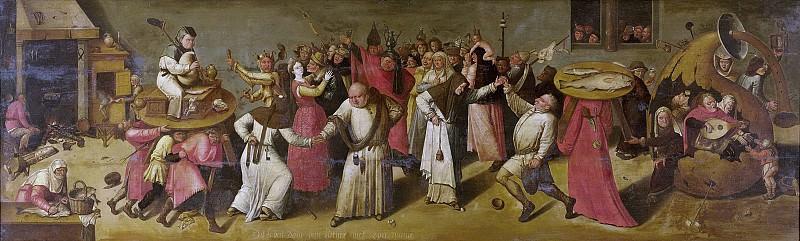Bosch, Jheronimus -- Het gevecht tussen Carnaval en Vasten., 1600 - 1620. Rijksmuseum: part 1