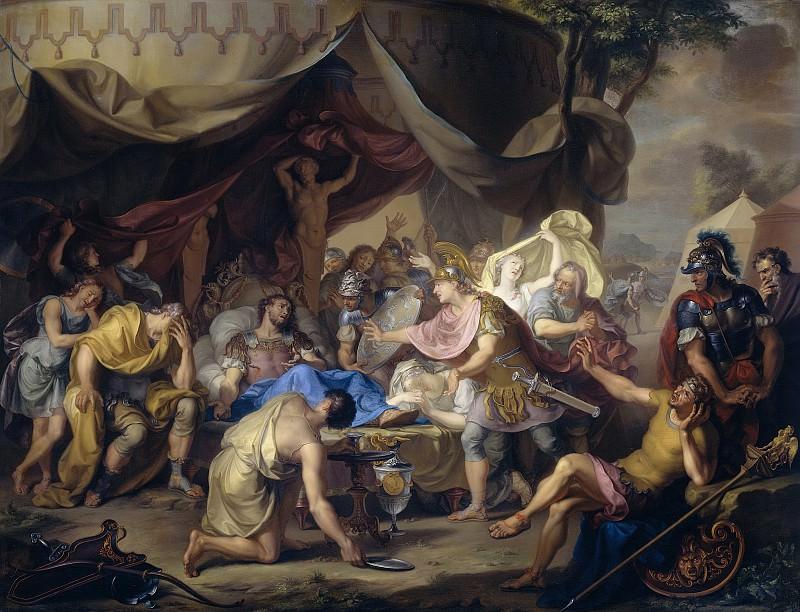 Walraven, Isaac -- Het sterfbed van Epaminondas, bevelhebber van het Thebaanse leger in de strijd tegen Sparta, 1726. Rijksmuseum: part 1