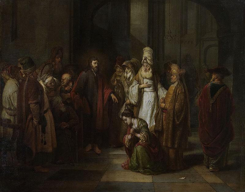 Eeckhout, Gerbrand van den -- Christus en de overspelige vrouw, 1650-1674. Rijksmuseum: part 1