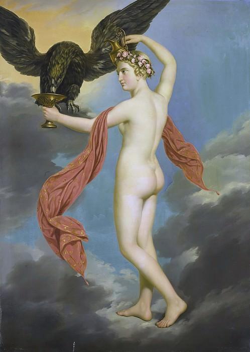 Diez, Gustav-Adolphe -- Hebe met Jupiter in de gedaante van een adelaar, 1820 - 1826. Rijksmuseum: part 1