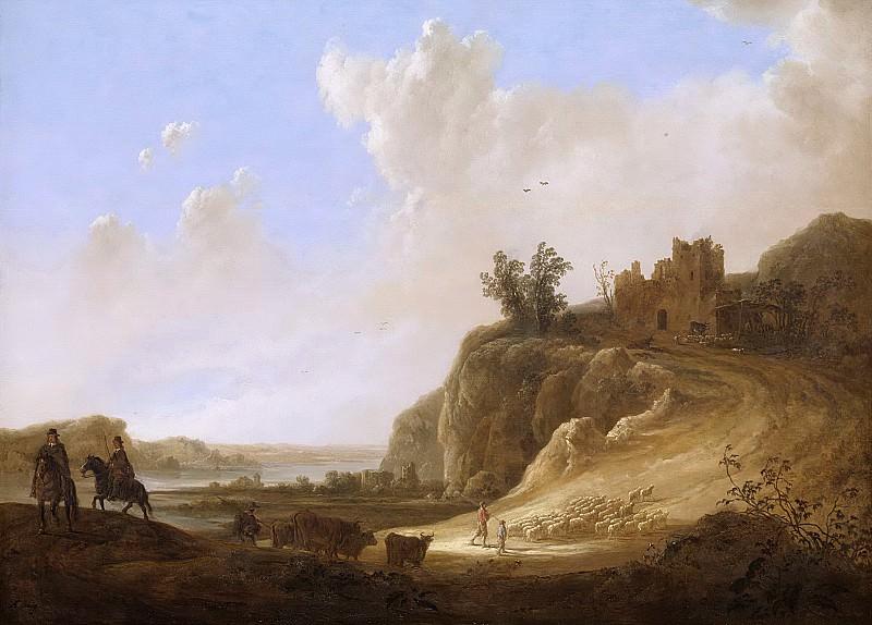 Альберт Кейп - Руины замка в гористой местности, 1640-50. Рейксмузеум: часть 1
