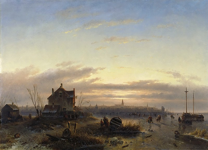 Leickert, Charles -- Winter op het IJ voor Amsterdam, 1850. Rijksmuseum: part 1