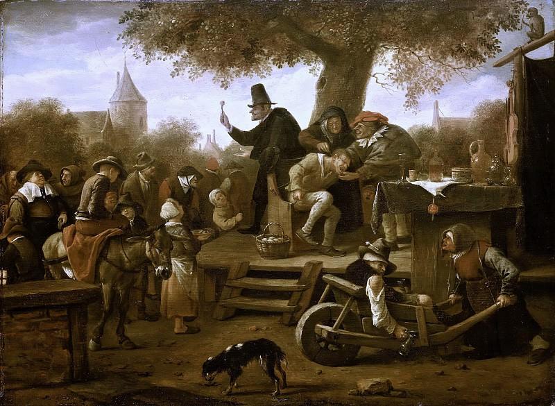 Steen, Jan Havicksz. -- De kwakzalver, 1650-1660. Rijksmuseum: part 1