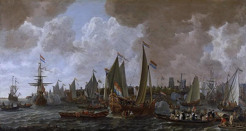 Ливе Питерс Версхейер -- Прибытие в Роттердам английского короля Карла II 24 мая 1660 года, 1660-1665. Рейксмузеум: часть 1