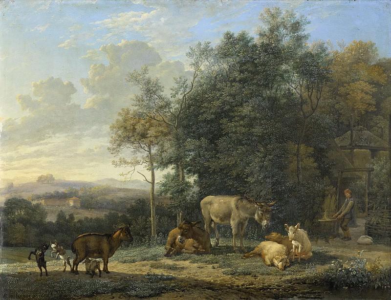 Dujardin, Karel -- Landschap met twee ezels, geitjes en varkens, 1655. Rijksmuseum: part 1