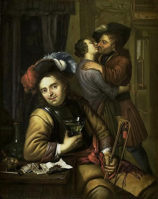Moor, Carel de (II) -- Soldatenscène, 1680 - 1738. Rijksmuseum: part 1