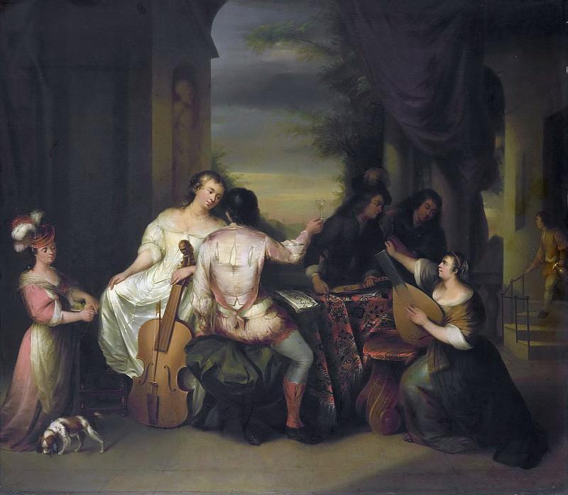 Brassauw, Melchior -- Musicerend gezelschap, 1730-1757. Rijksmuseum: part 1