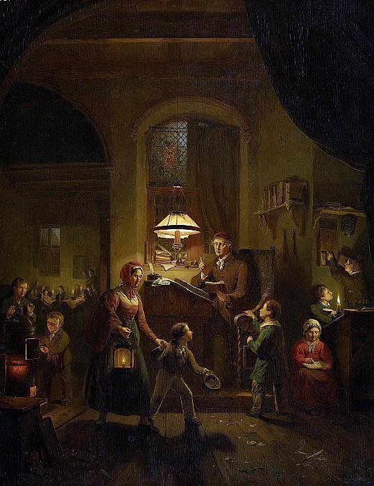 Haanen, George Gillis -- De avondschool, 1835. Rijksmuseum: part 1
