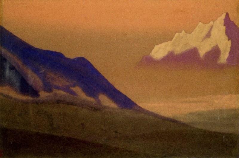 Sunset # 37 Himalaya (Pink fog). Roerich N.K. (Part 5)