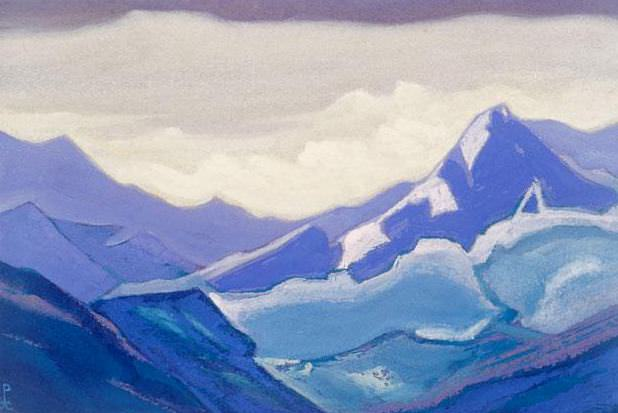 The Himalayas # 109 Among the ridges. Roerich N.K. (Part 5)
