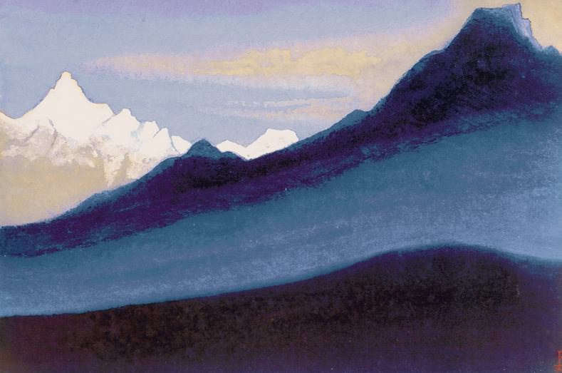 The Himalayas # 144 The snowy summit. Roerich N.K. (Part 5)