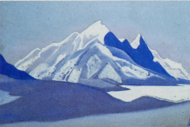 The Himalayas # 150 The snowy top. Roerich N.K. (Part 5)