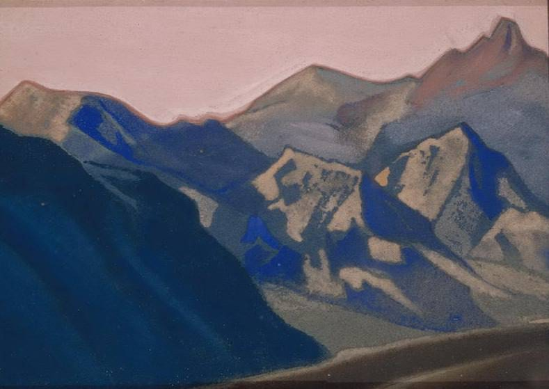 Evening # 4 (Himalayas. Sierra). Roerich N.K. (Part 5)