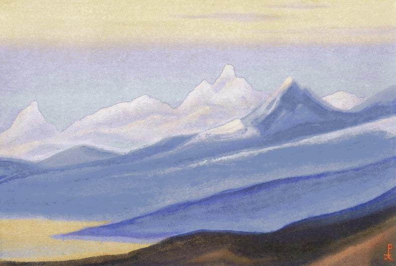 Himalayas # 152 Glare of the pink light. Roerich N.K. (Part 5)