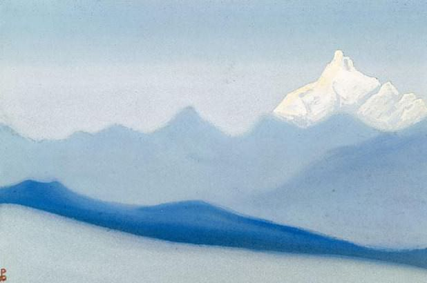 Himalayas # 26 Foggy morning. Roerich N.K. (Part 5)