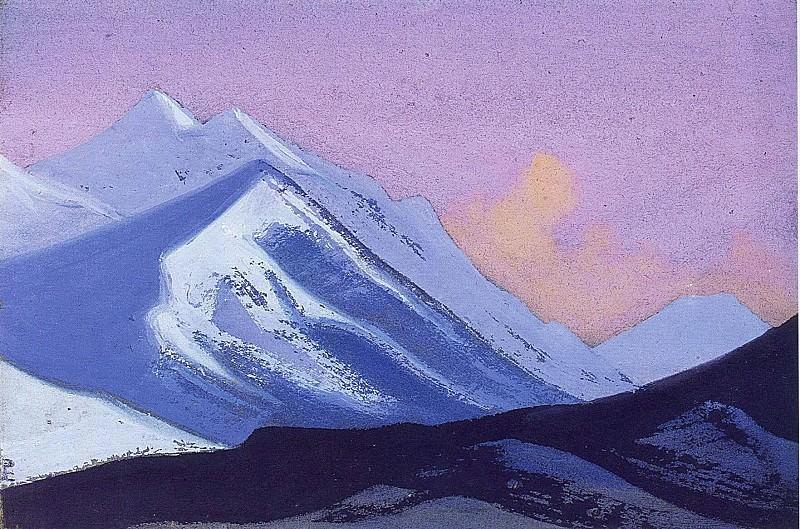 Kanchenjunga # 36 Sunset. Roerich N.K. (Part 5)